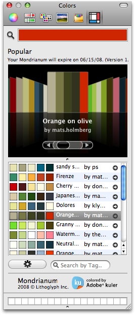 Adobe Kuler OS X Colors
