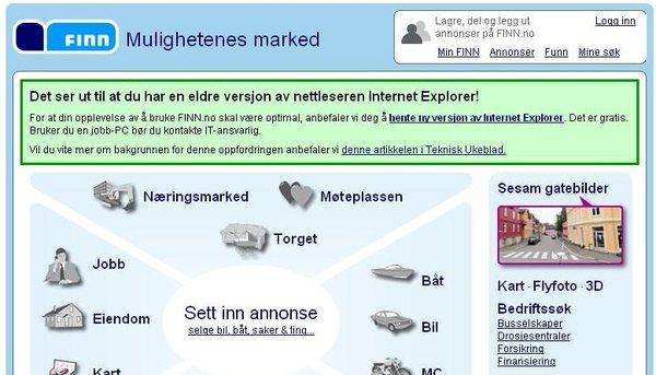 Finn og Internet Explorer 6