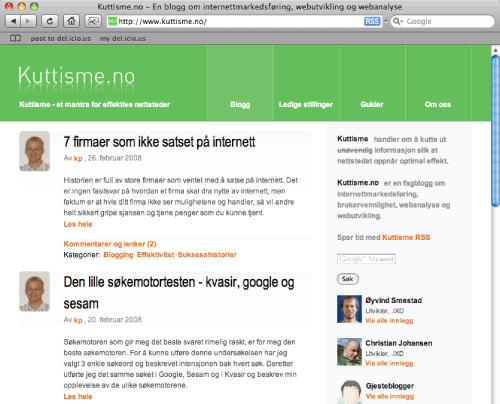 Fagbloggen Kuttisme.no